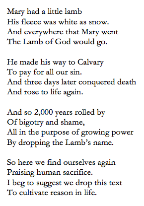 Screen Shot - Mary Had a Little Lamb, alternate Christian version