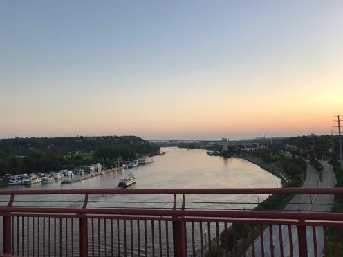 Views from the Wabasha bridge in St. Paul.